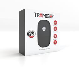 Tramigo personal tracker keychain box front