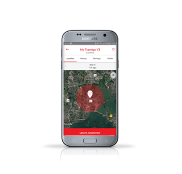 Easy to use smartphone app to operate your Y5 personal tracker