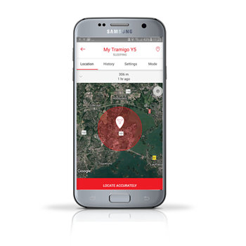 Tramigo personal locator for south-africa mobile app